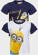 BOYS MINIONS CHARACTER COTTON T-SHIRT WHITE AGE 6 YEARS