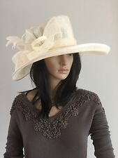 NIGEL RAYMENT IVORY WEDDING ASCOT HAT OCCASION MOTHER OF THE BRIDE