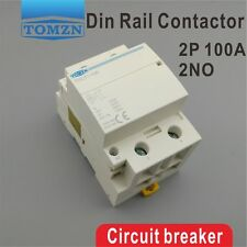 TOCT1 2P 100A 2NO 230V 50/60HZ Din rail Household ac contactor