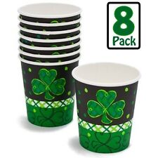 Shamrock Dots Paper Cups 7.oz Holds Hot or Cold Liquids