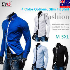 Cotton Blend Long Sleeve Western Casual Shirts for Men