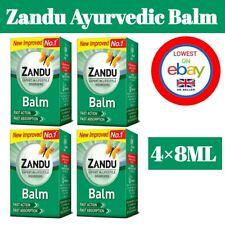 ZANDU Ayurvedic Pain Fast Relief Balm For Headache, Cold & Backache 4 X 8ml