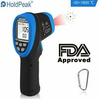 Infrared Thermometer Digital Pyrometer IR Non Contact Temperature Laser 1800°C