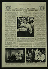 Alfred Hitchcock Rear Window Review James Stewart 1954 1 Page Photo Article