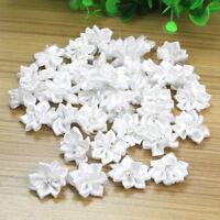 40Pcs Satin Ribbon Flowers Appliques Craft Wedding Party Sewing DIY Decoration