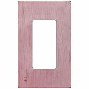 ENERLITES Screwless Decorator Wall Plate Outlet Cover Rose Gold