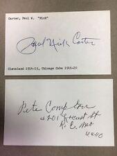 """Paul """"Nick' Carter 1914 Cleveland/Cubs 1916 Signed Index Card JSA Precertif"""