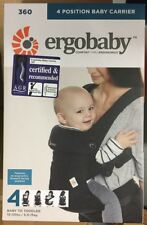 Ergobaby 360 Baby Carrier Sling 4 Ergo Carry Positions Pure Black Post