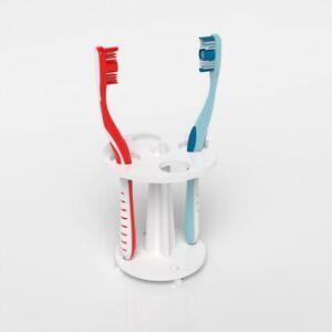 Freestanding Toothbrush Holder & Bathroom Organiser / Toothbrush Stand White