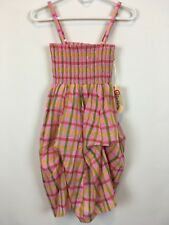 Olsenboye Womens Pink Multi Plaid Sundress Party  Stretch NWT Size S A1329
