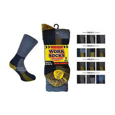 Mens Wool Blend Work Socks UK Size 6-11 EU 39-45 Extra Warmth Reinforced Boot