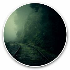 2 x Vinyl Stickers 30cm - Dark Creepy Train Tracks Scary  #44841