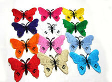 New 12pcs Butterfly  Embroidered Applique Iron On Sew On Patch Mixed  Color