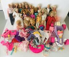 Vtg Mixed Lot of 24 Barbie & Ken Dolls Clothes Sand Dune Buggy Car & Accessories