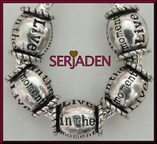 5 Live in the Moment Inspirational Spacer Charms European 10*12 & 5 mm Hole S156