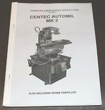 Centec Automil Mk 2 Operating & Maintenance Manual.