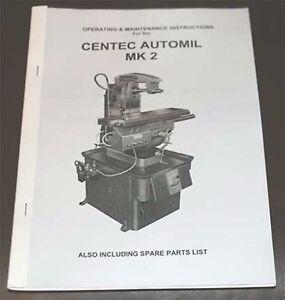 Centec Automil Mk 2 Operating & Maintenance Manual.