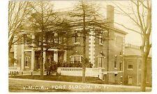 New Rochelle/Pelham NY -YMCA BUILDING AT FORT SLOCUM- RPPC Postcard