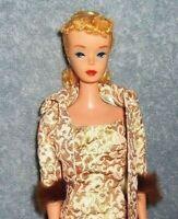 Gorgeous Vintage #4 Blonde Ponytail Barbie!  BREATHTAKING DOLL!