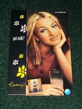 Rare 2000 Got Milk BRITNEY SPEARS Poster ~2 sided promo of her book/album