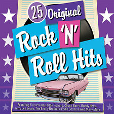 CD 25 ORIGINAL ROCK N ROLL HITS PRESLEY RICHARD BERRY HOLLY LEWIS EVERLY COCHRAN