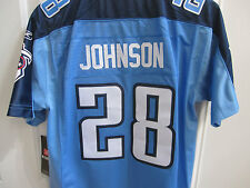 NWT #28 Chris Johnson Tennessee Titans STITCHED-Sewn Jersey Yth Large 14/16 $75