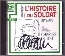 Charles DUTOIT Signiert STRAVINSKY L'Histoire du Soldat Renard TAPPY BLAZER CD