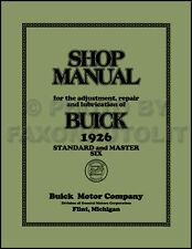 1926 Buick Standard 6 and Master Six Repair Shop Manual 26 Service Book