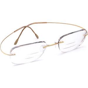 Silhouette Eyeglasses 7799 20 6051 Gold Rimless Metal Frame Austria 51[]19 140