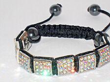 Rhinestone Square Discoball Bracelet