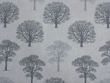 MARSON TREES GREY DESIGNER CURTAINS BLINDS CRAFT UPHOLSTERY FABRIC
