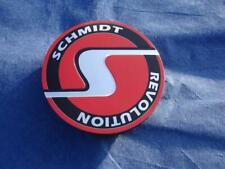 ✅ 4x Nabenkappen flach SC5 randlos rot Schmidt Revolution Felgendeckel Original