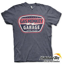 Official Gas Monkey Garage GMG Vintage Custom Fast N Loud Heather Navy T-Shirt