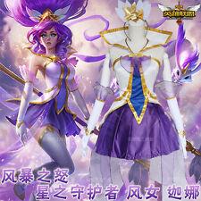 Anime Game League of Legends LOL Janna Kawaii Lolita Cosplay Costume Clothing #3