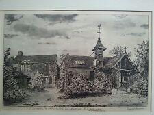 """Original etching by Marcel Jacque """" La maison de Théodore Rousseau"""""""