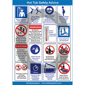 Correx A4 Hot Tub Safety Poster | Perfect For Commercial | Hot Tub Advice