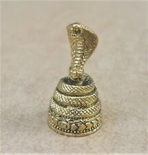 COBRA Snake Thai Amulet Brass Magic Holy Luck Rich Protect Sacred Miniature
