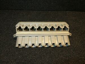 1 pcs, 8 port UTP RJ45 Patch block , grey , self adhesive