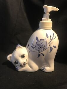 Carol Wright Gifts Cat Soap / Lotion Pump Dispenser