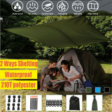 Waterproof Tarp Tent Camping Awning Sun Shelter Hammock Outdoor Rain Cover Patio