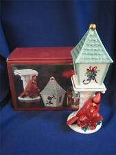 LENOX  WINTER GREETINGS SALT AND PEPPER  RED CARDINAL  & BIRD HOUSE MIB