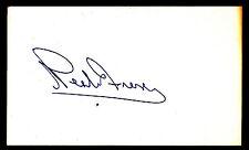 Neale Fraser Autographed 3x5 index card Tennis HOF JSA COA