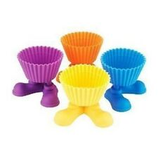 4 Pack Silly Feet Silicone Cupcake Liners - Silicone Herb Cupcake Holder