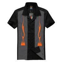 Men's, Rockabilly shirts, Hot Rod, Rock n roll, Tattoo, Flames, garage shirt