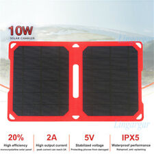 Waterproof 10W 5V Foldable Solar Power Charger Panel Bag For Phone Travel Camp
