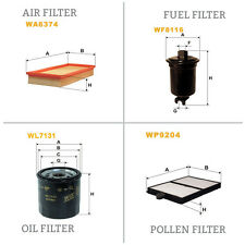 WIX AIR POLLEN OIL & FUEL Filter Service Kit WA6374,WP9204,WL7131,WF8116