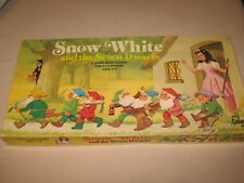 Vintage Snow White And The Seven Dwarfs Board Game Cadaco #590 1977 Complete