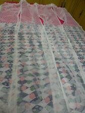 blanc  2m,10x0,90  rideau à 4pans joints ,clarté ,sans repassage ,pret à placer