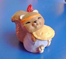 Hallmark Merry Miniatures Thanksgiving Vintage Squirrel Pie 1993 Figurine New