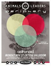 """ANIMALS AS LEADERS/PERIPHERY """"THE CONVERGENCE TOUR"""" 2017 PORTLAND CONCERT POSTER"""